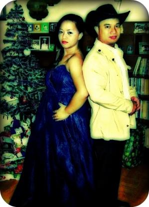 My sister dressed up us me. Spoofing my pre-nup ey?