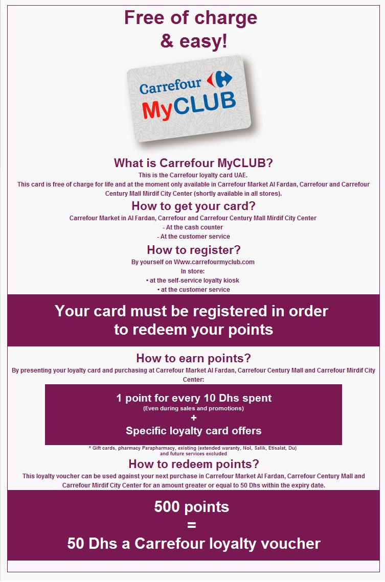 Uae Carrefour S Loyalty Card Violetology