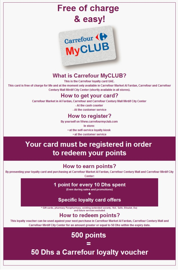 Uae Carrefour S Loyalty Card Violetology
