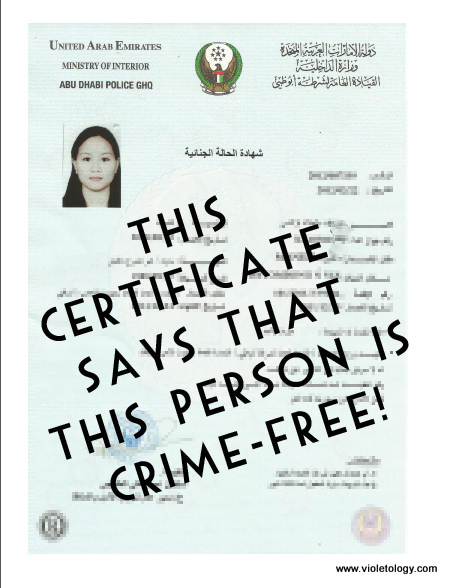 How to Apply for a Police Clearance in Abu Dhabi 2012 (3/5)