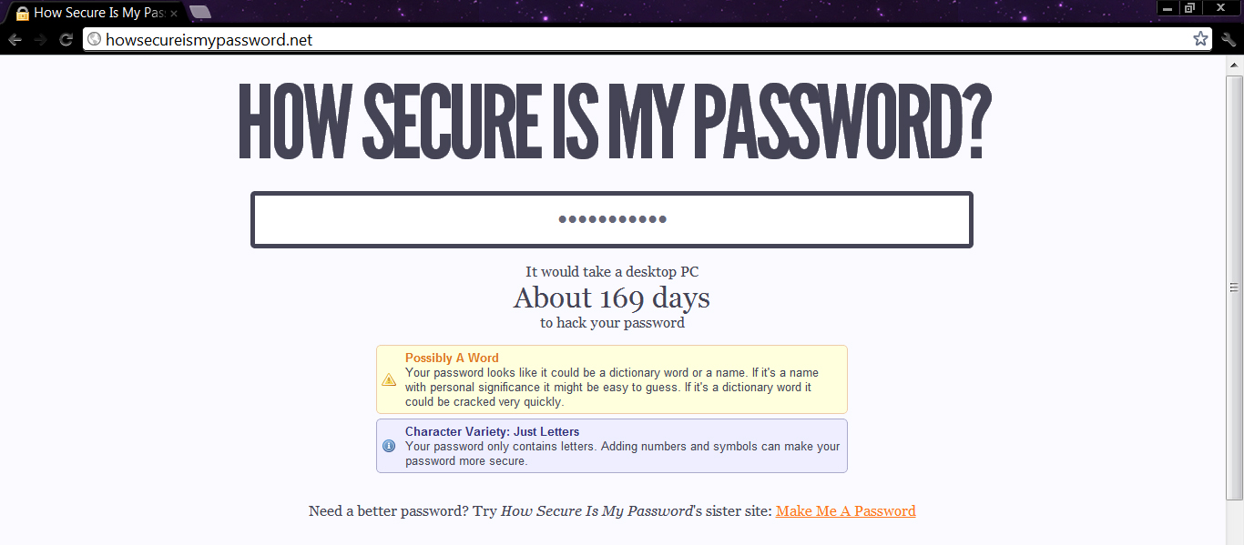 How Secure is Your Password? – Violetology