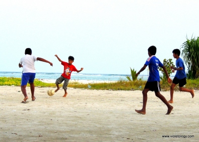 Soccer by the sea