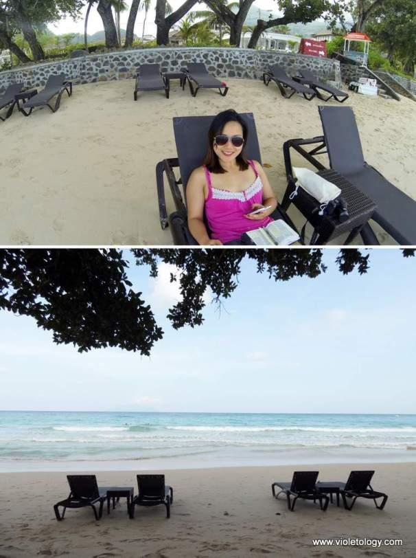 private chair, public beach