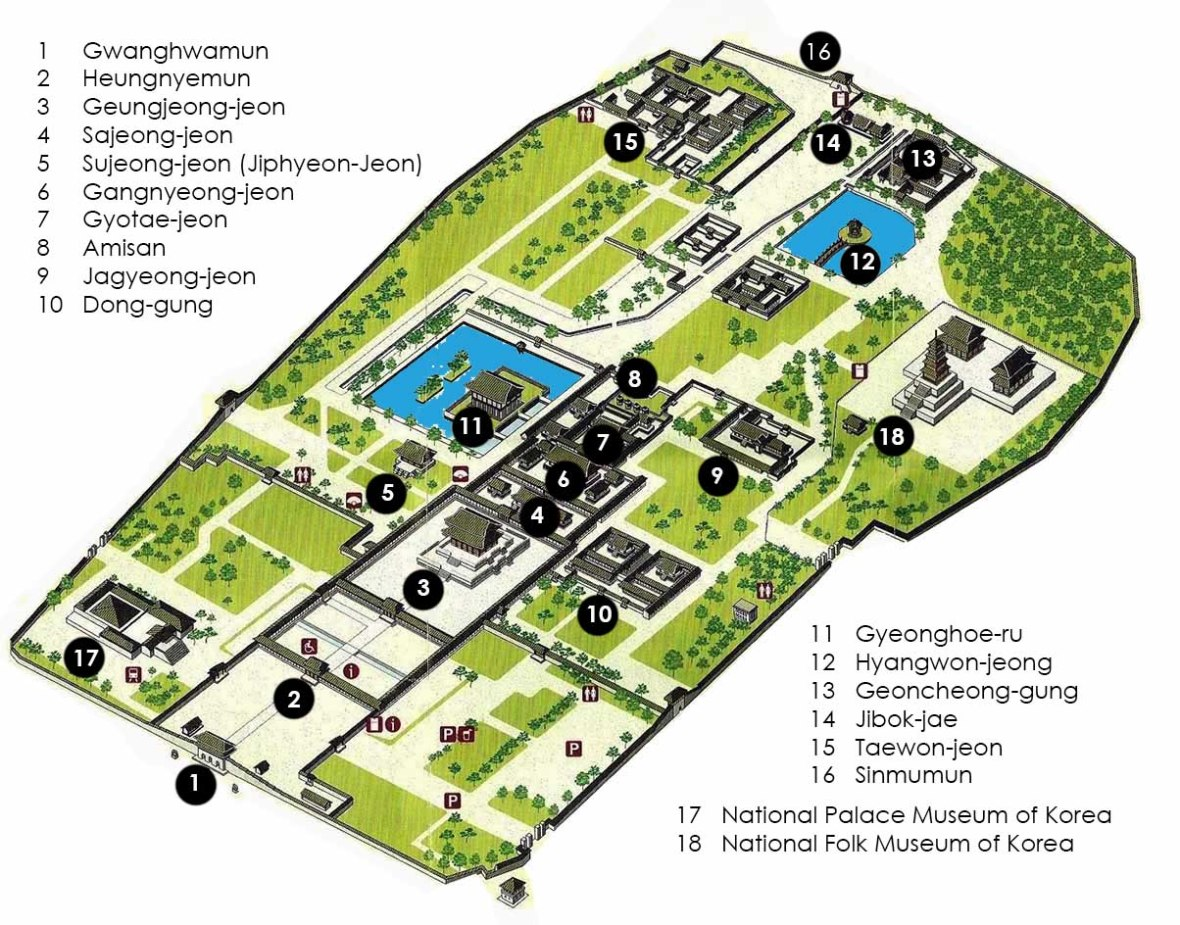 Gyeongbokgung Palace Map