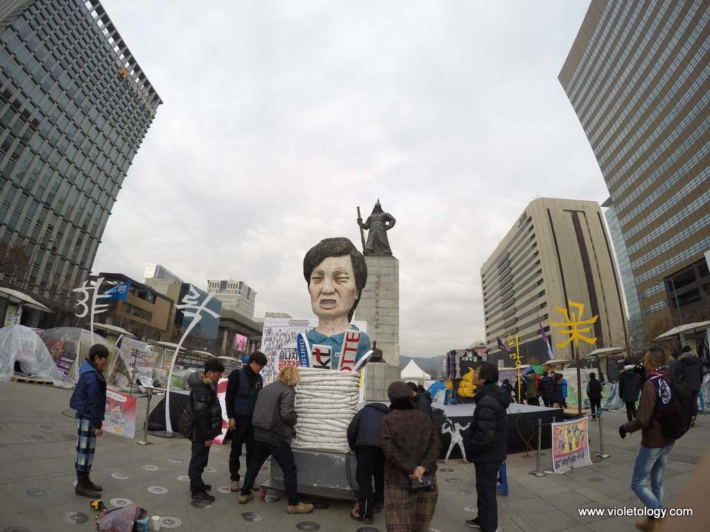 Seoul President Park Geun-hye protest