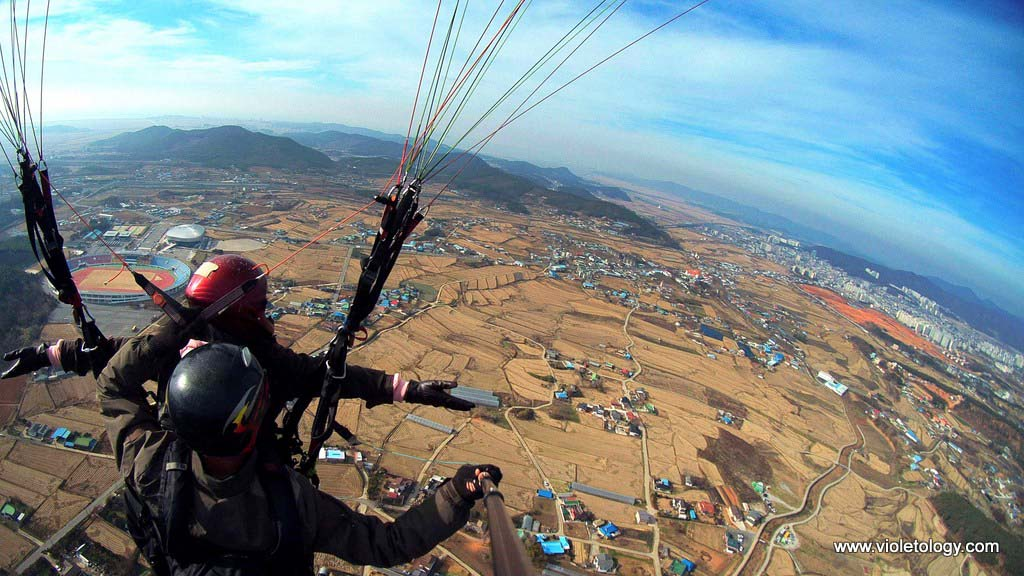 paragliding in korea