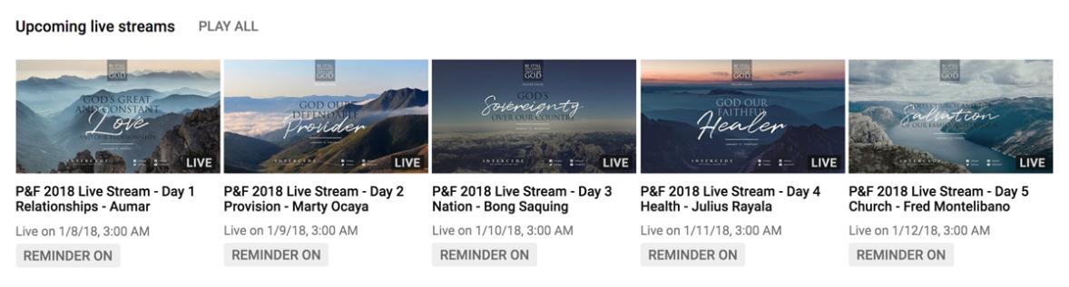 ccf intercede 2018 videos