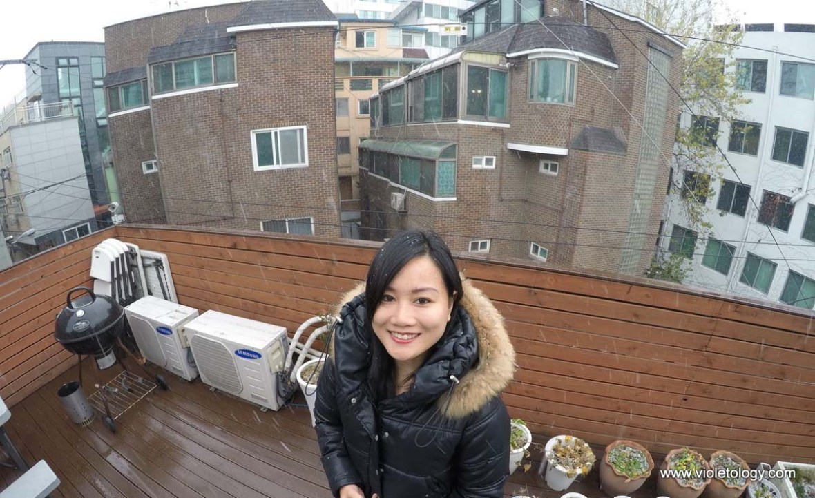 first snow in seoul korea