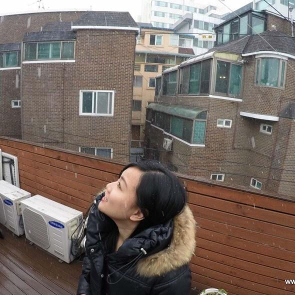 first snow in seoul korea