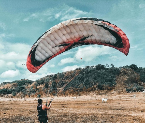 paragliding philippines kiting