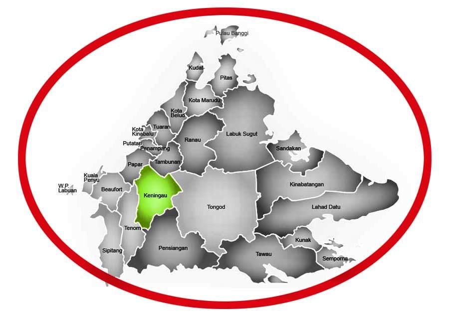 map keningau sabah malaysia