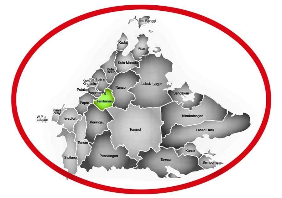 map tambunan sabah malaysia