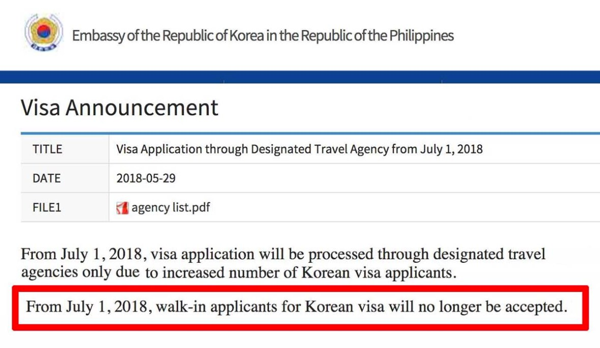 korea visa philippines 2018