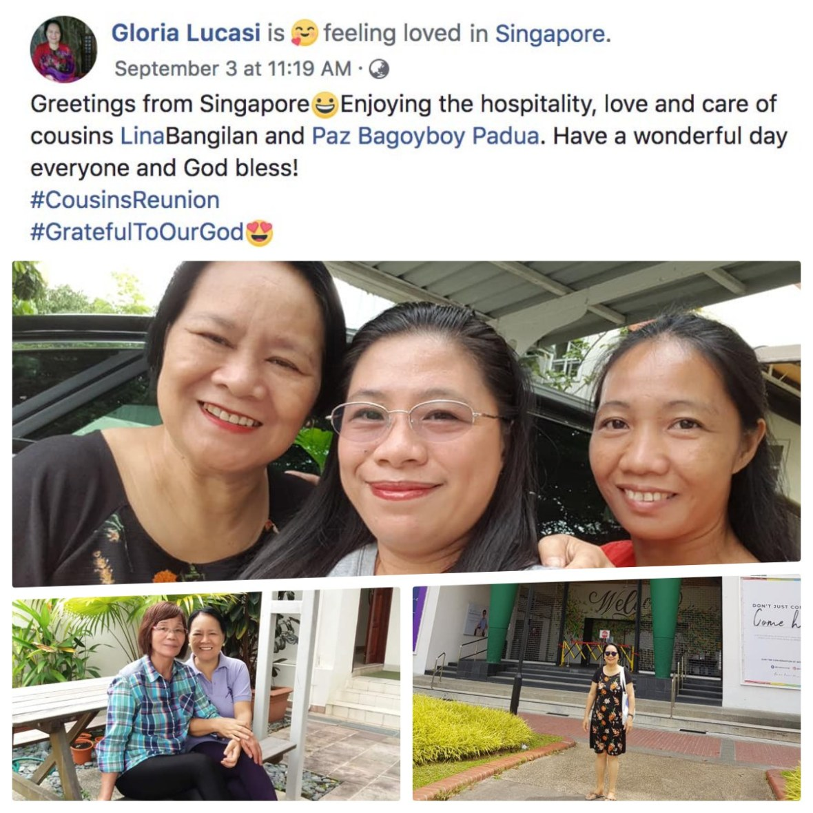 gloria lucasi singapore