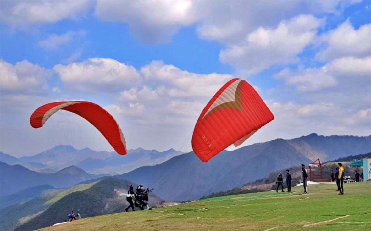 Paragliding in Korea: Danyang Para Village – Violetology