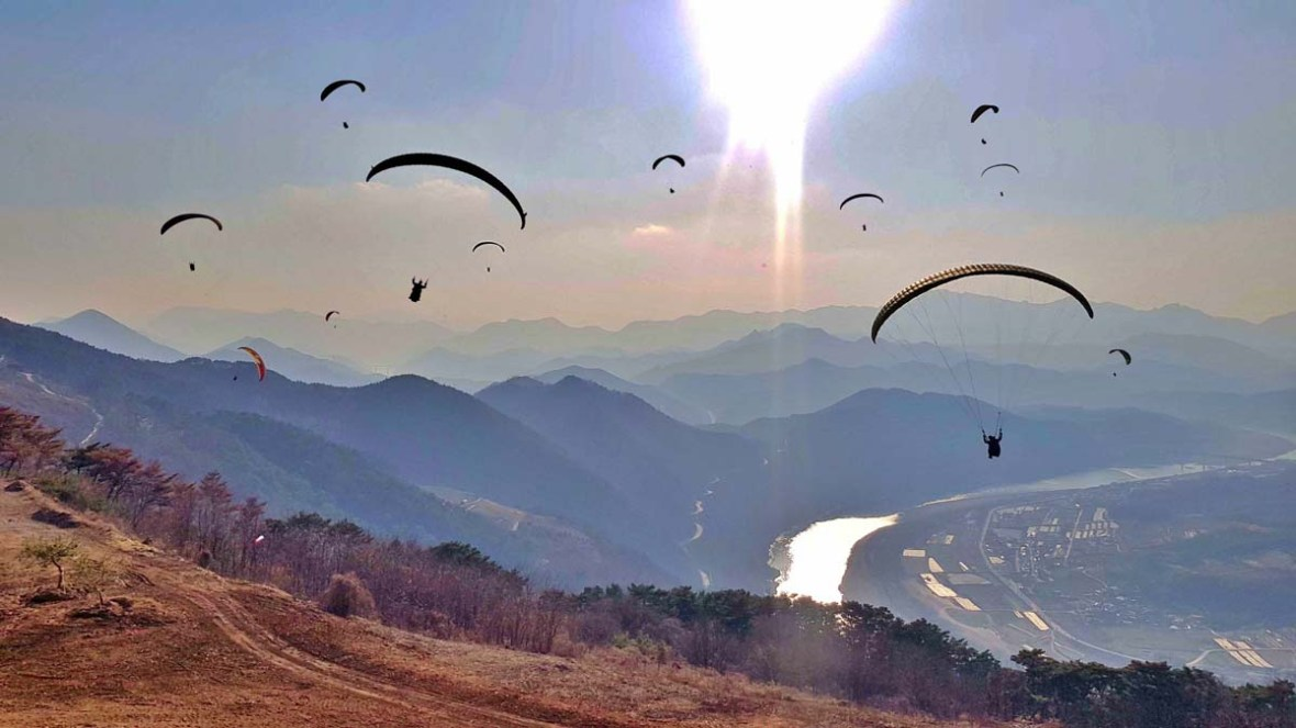 danyang paragliding korea