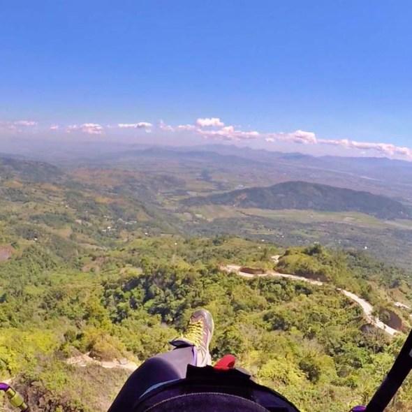 nuviz paragliding solo flight