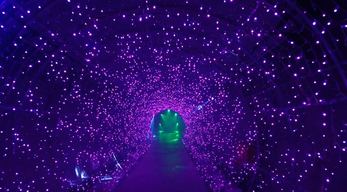 suyanggae light tunnel danyang south korea