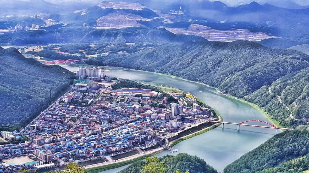 danyang paragliding south korea