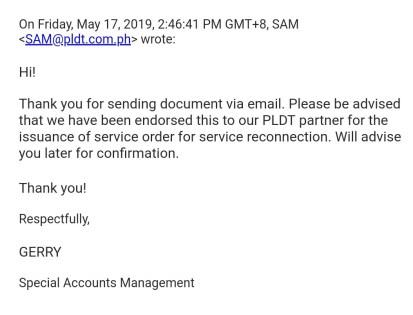 pldt complaint bad service