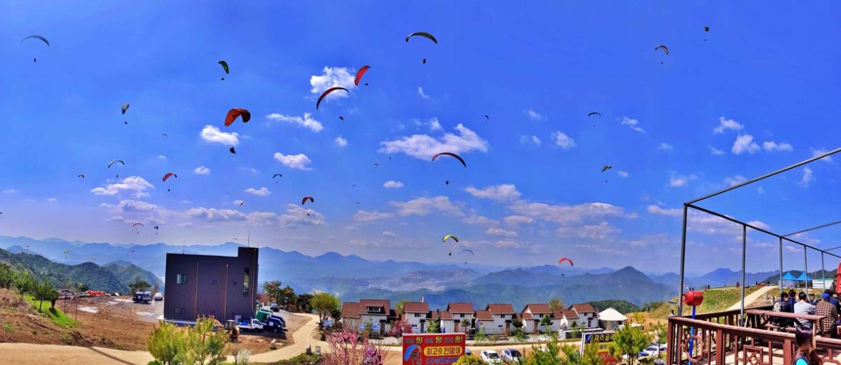 awesome paragliding danyang 단양청춘패러글라이딩