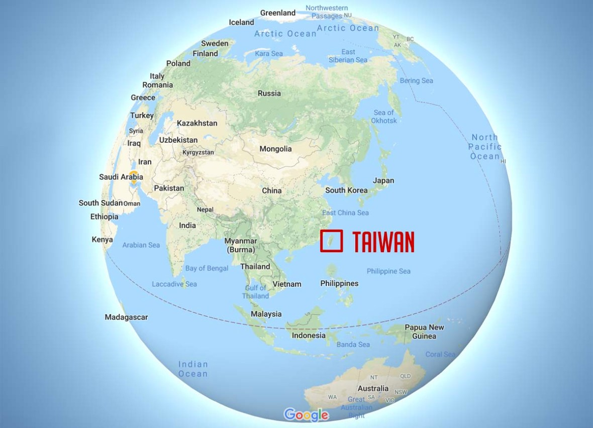 taiwan world map