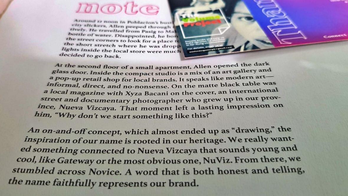 novice magazine